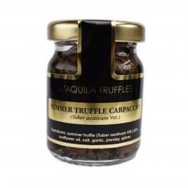 Black Summer Truffle Carpaccio (Marinated Slices – Tuber aestivum)