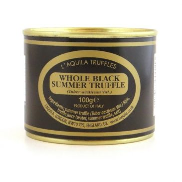 Whole Black Summer Truffles (Tuber Aestivum), 100g