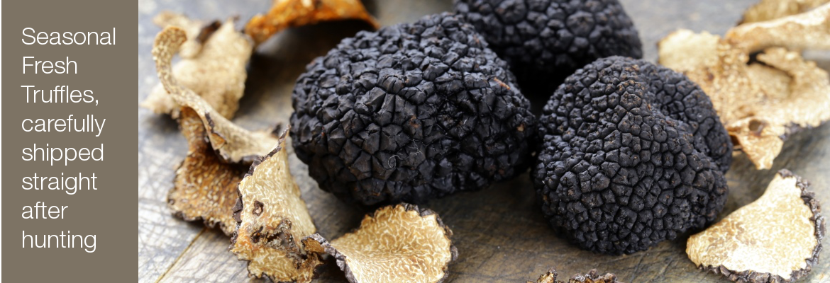Seasonal Fresh Truffles, carefully shipped straight after hunting